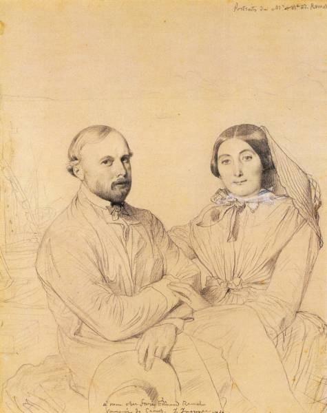 Ingres Edmond Ramel and his wife born Irma Donbernard